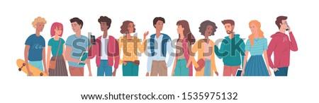 People flat vector colour set illustration #1535975132