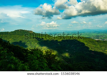 Mountain view when viewed from the KM 12 view point, Chiang Rai province. #1536038546