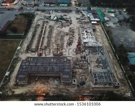 Photo of a construction of a school in Kuala Lumpur, Malaysia. Photo taken on October 2019. #1536101006