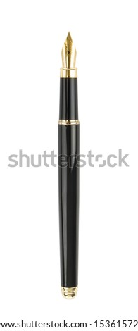 Fountain writing pen. Isolated on white #153615722