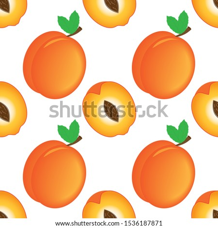 Seamless apricot background, pattern design for fabric brochure, catalog, poster, book, magazine #1536187871