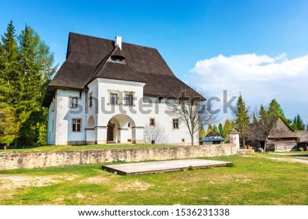 Old traditional house of village Pribylina in Liptov region (SLOVAKIA)  #1536231338