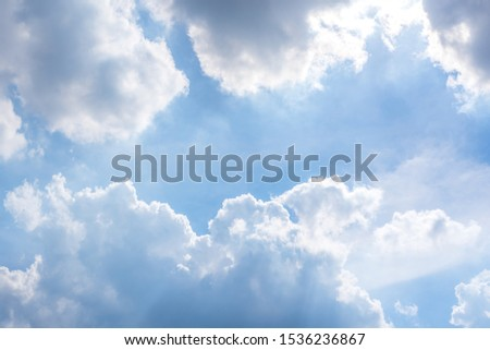 Cloudscape of natural sky with blue sky and white clouds in the sky use for wallpaper background #1536236867