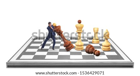 Strategy and tactics concept with businessman #1536429071
