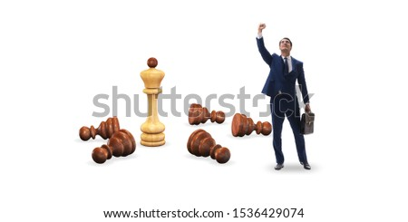 Strategy and tactics concept with businessman #1536429074