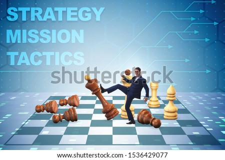 Strategy and tactics concept with businessman #1536429077