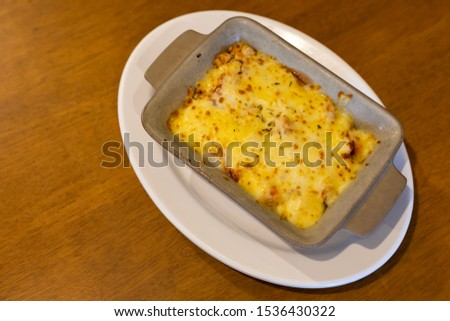 The beautiful pattern chicken lasagna