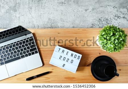 TRENDS 2020 Business Concept,Top view Royalty-Free Stock Photo #1536452306