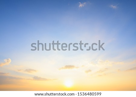 Beautiful sunset sky with clouds #1536480599