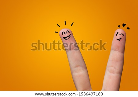 Waggish happy fingers with team building concept #1536497180