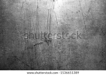 Old steel texture, scratched metal background #1536651389