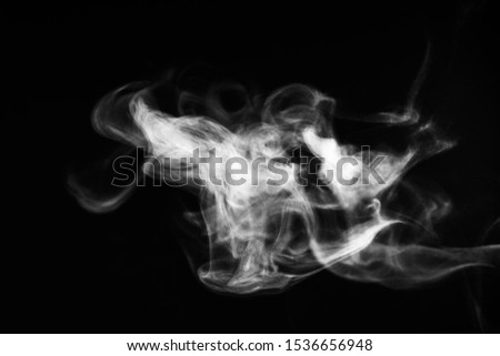 white smoke overlay effect on solid super black background Nature motion smoky steam wave abstract environment pollution, cloud, cigarette, gas, dry ice, chemistry, factory and ghost concepts #1536656948