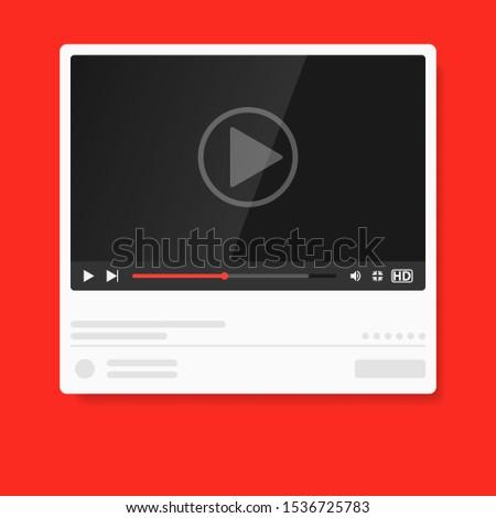 Modern video player design template. Media player window bar design mockup #1536725783
