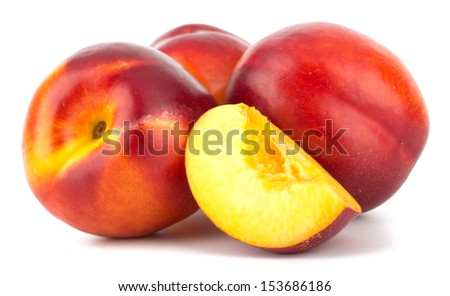Nectarine fruit isolated on white background #153686186