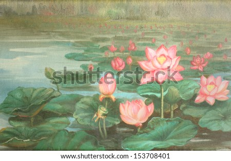 lotus : oil color painting