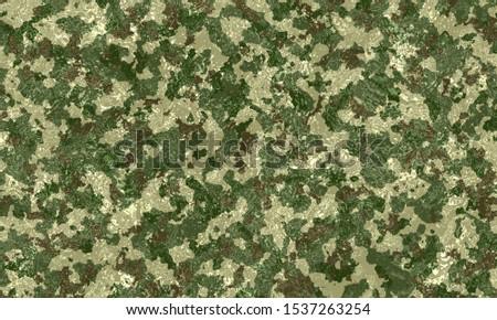 Camouflage military texture background covered with water. Abstract army and hunting masking ornament. Unique camouflage for your production or design. Camouflage Texture Army Background. #1537263254