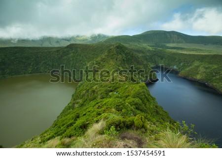 Contrast of Lagoa Comprida and Lagoa Funda, Flores, Azores, Portugal #1537454591
