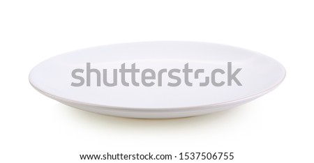 White plate on white background #1537506755