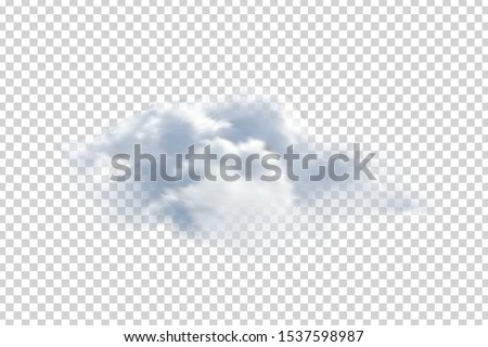 Vector realistic isolated cloud for template decoration and mockup covering on the transparent background. Concept of storm and sky. #1537598987