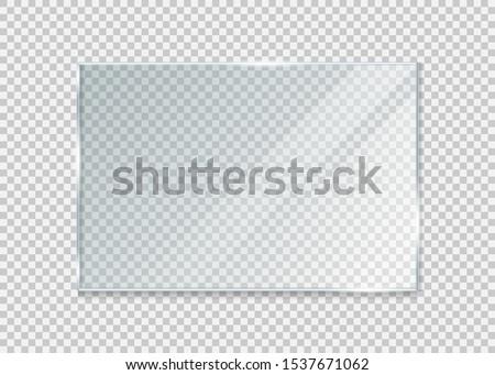 glass windowisolated on white background. Vector illustration. Eps 10.  #1537671062