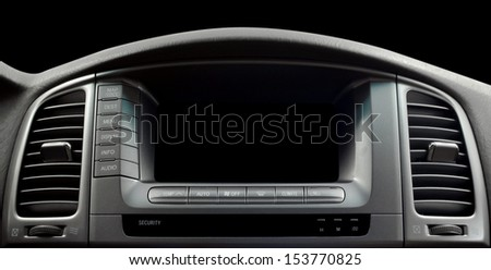 Modern car interior. Horizontal photo. #153770825