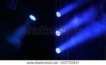 Before concert: dark blue lighting on stage #1537735817