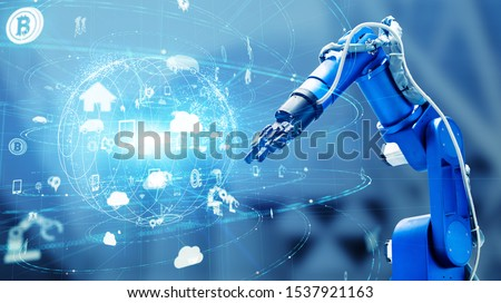 Industrial technology concept. Factory automation. INDUSTRY 4.0 #1537921163