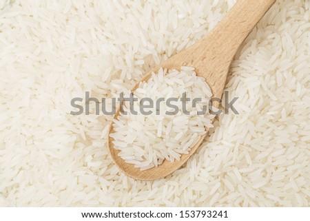 White rice on spoon #153793241