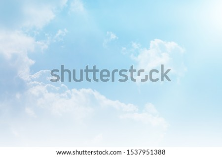 blue sky and white cloud beautiful background #1537951388