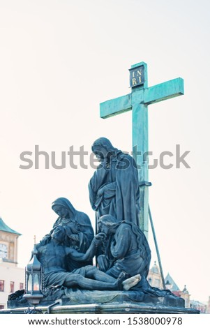 Sculptural group depicting the Pietà, by Immanuel Max On the Carlo Bridge in Prague #1538000978