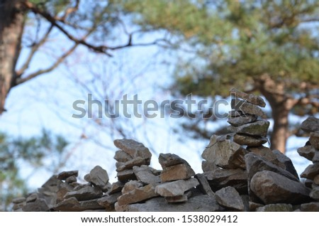 Rock stacking/Stone Stacking, some people believe it is a symbol/a way to make a wish for their dream #1538029412