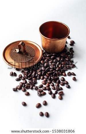 Vietname coffee, a device for making drift coffee with a strange shape Coffee bean that are grown in the country, especially the aroma, aroma, mellow taste. #1538031806