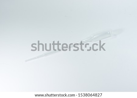 plastic pipette or droper with white background #1538064827