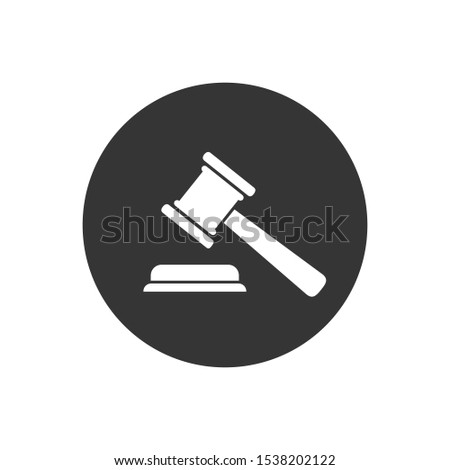 Judgement  Justice icon in trendy flat style. Vector Illustration