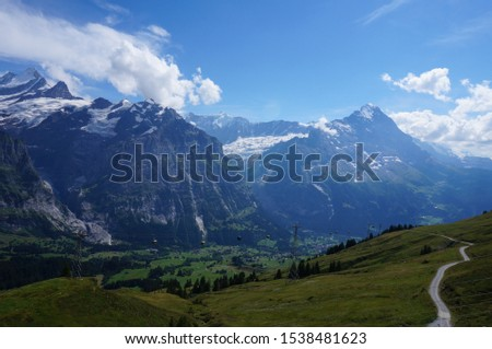 Beautiful Alpine landscape with peaks. #1538481623