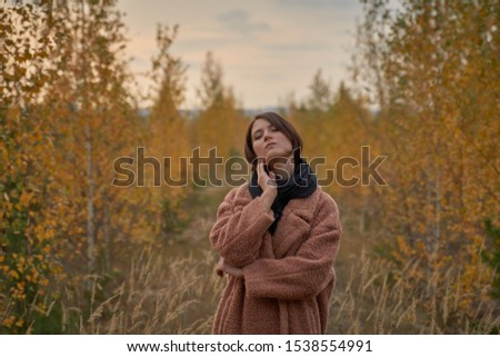 Portrait of a sensual girl in the autumn forest.                                #1538554991