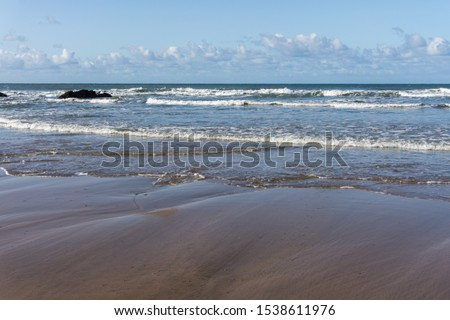 Crooklets beach in Bude on the North Cornwall coast Royalty-Free Stock Photo #1538611976