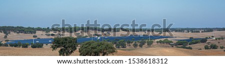 solar panels or panels installed in the field #1538618312