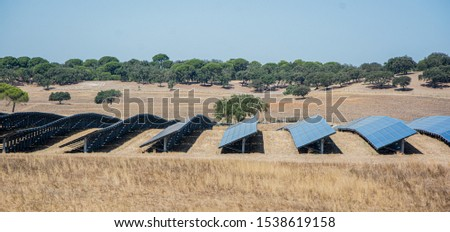 solar panels or panels installed in the field #1538619158