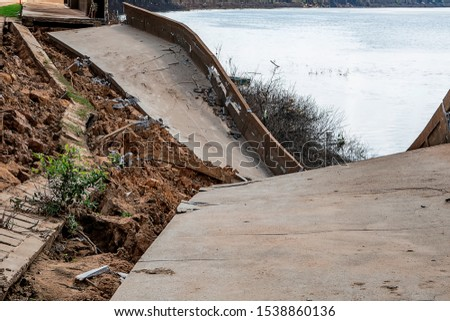 Waterproof concrete ridge erosion from erosion  #1538860136