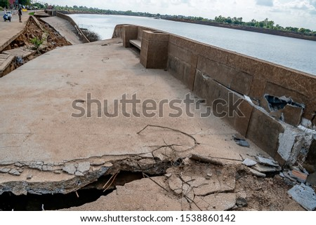 Waterproof concrete ridge erosion from erosion  #1538860142