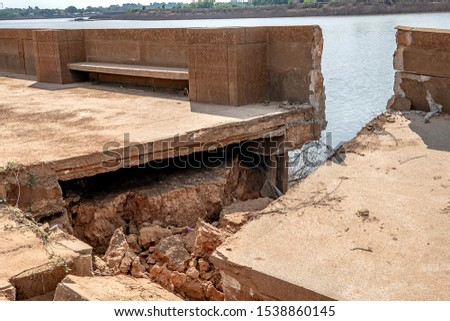 Waterproof concrete ridge erosion from erosion  #1538860145