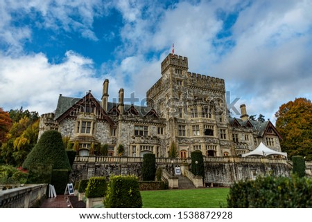 Colwood,BC/Canada - Oct 20 2019: Canada National Historic Site - Amazing Hatley Castle  in  Autumn  2019(2). #1538872928