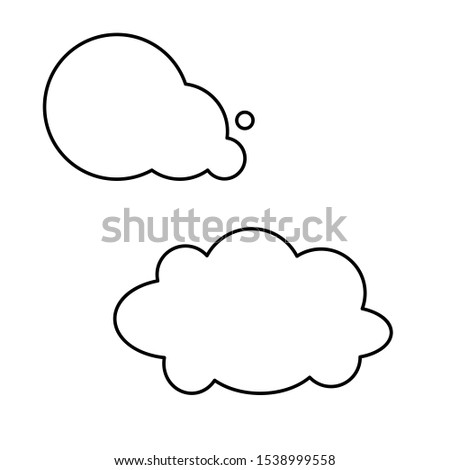 Set of simple icons with clouds on white background  #1538999558