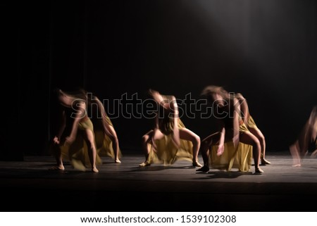 The abstract movement of the dance #1539102308