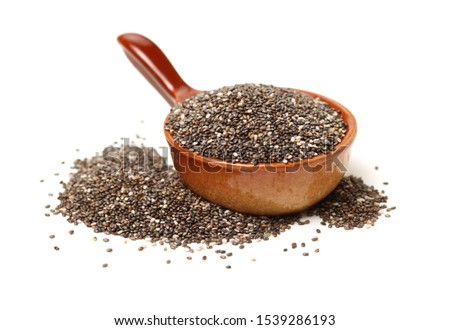 Chia Seed. Natural, annual on white background #1539286193