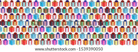 Christmas background birthday gifts presents wallpaper banner collection isolated on a white background #1539390050