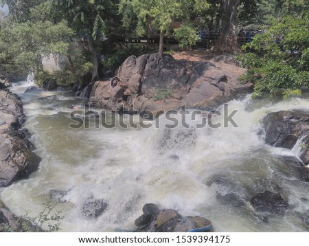 Nature with water falls pic