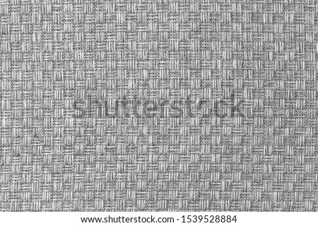 White natural texture of knitted wool textile material background. White cotton fabric woven canvas texture #1539528884