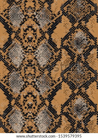 Seamless Trendy Colors Snake Python Texture Animal Pattern Vector Design Perfect for Fashion Interior and other print tecniques